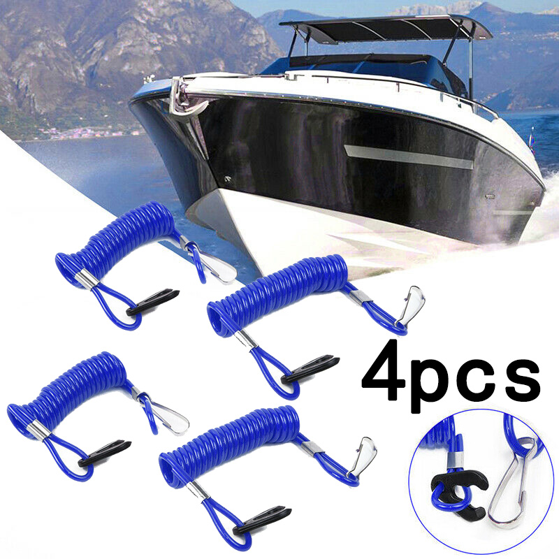 high quality 4pcs Jet Ski Outboard Stop Kill Key Floating Safety Lanyard Rope Blue For Honda durable new accessories in Boat Engine from Automobiles Motorcycles
