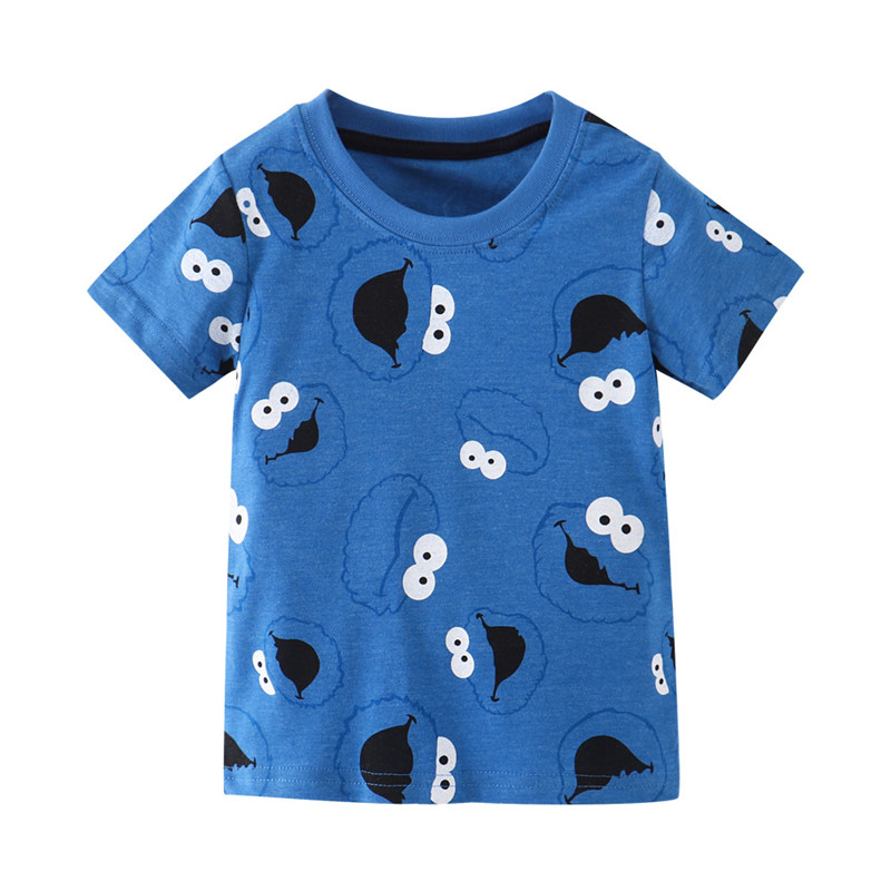 Hc95e5d69c2244f8d93322170adf6623bK Jumping meters Summer 100% Cotton Boys Girls T shirts Tigers Print New Baby Clothes Hot Selling Boys Tees Animals Kids s