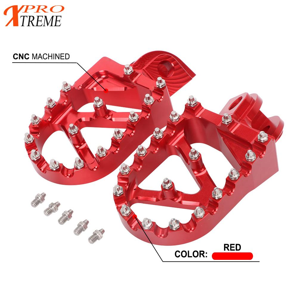 Motorcycle CNC Aluminum Foot Pegs Footpegs For <font><b>Beta</b></font> 200RR <font><b>300RR</b></font> 2T 350RR 390RR 400RR 430RR 450RR 480RR 498RR 520RR 4T 2010-2018 image