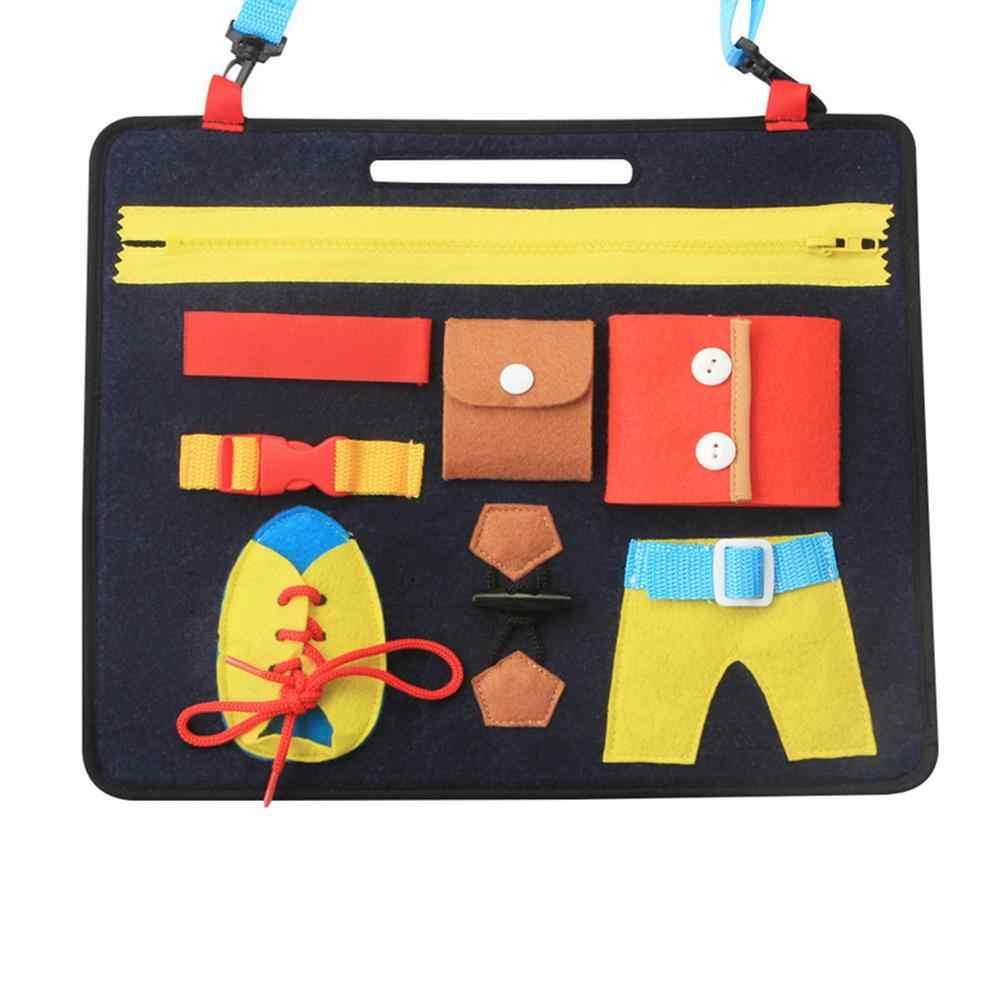 Puzzle del bambino Competenze di Base Del Bambino Attività Bordo per Le Capacità Motorie Impara a Vestire Bordo Giocattoli Educativi di Apprendimento