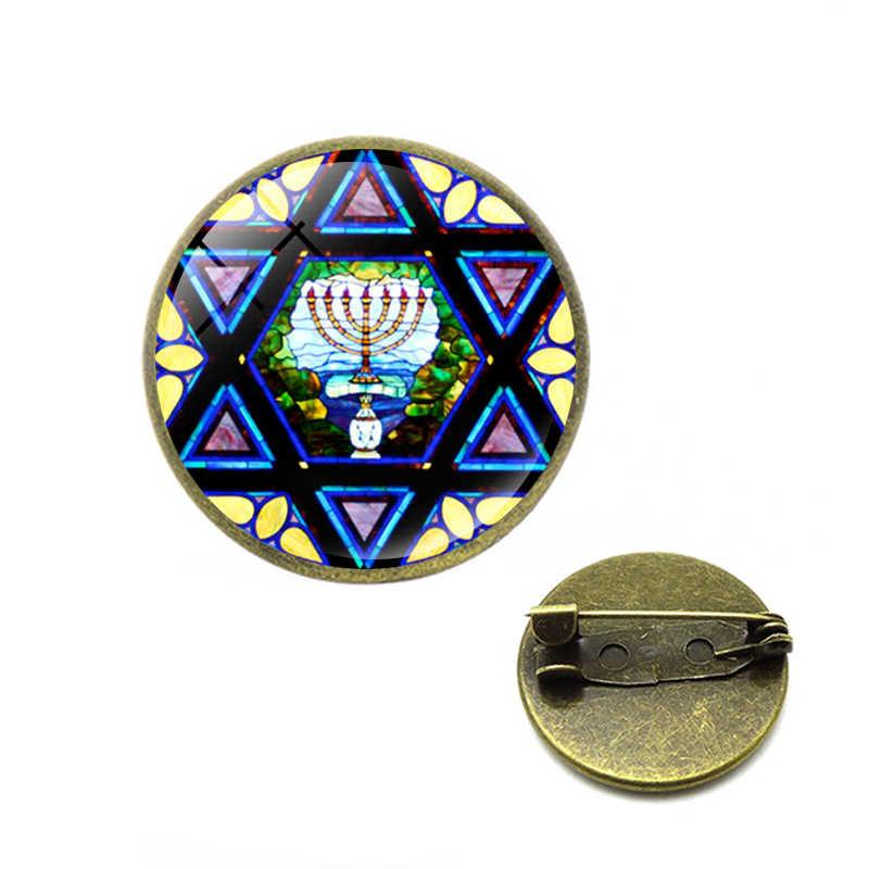 Menorah Trâm Mới Israel Jerusalem Chân Vàng Chân Đèn Cho Jusus Cứu Trợ Giáo Hội Menorah Trang Sức