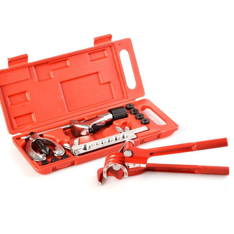 New Brake Pipe Flaring Tool Kit Line Plumbing With Aluminum 3-In-1 180 Degree Tubing Bender Cutter
