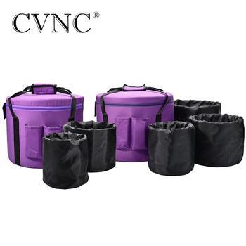 """CVNC 11 """"12"""" 2 uds bolsas de transporte de lona para Cuencos Cantores de cristal de 6-12"""""""