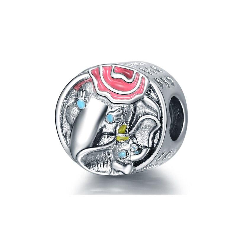Новинка, сплав, шарик Микки и Минни, сказочный Дамбо, любовь, шарм, подходит для Пандоры, браслет, ожерелье, сделай сам, Женские Ювелирные изделия - Цвет: Dumbo and Mrs. Jumbo