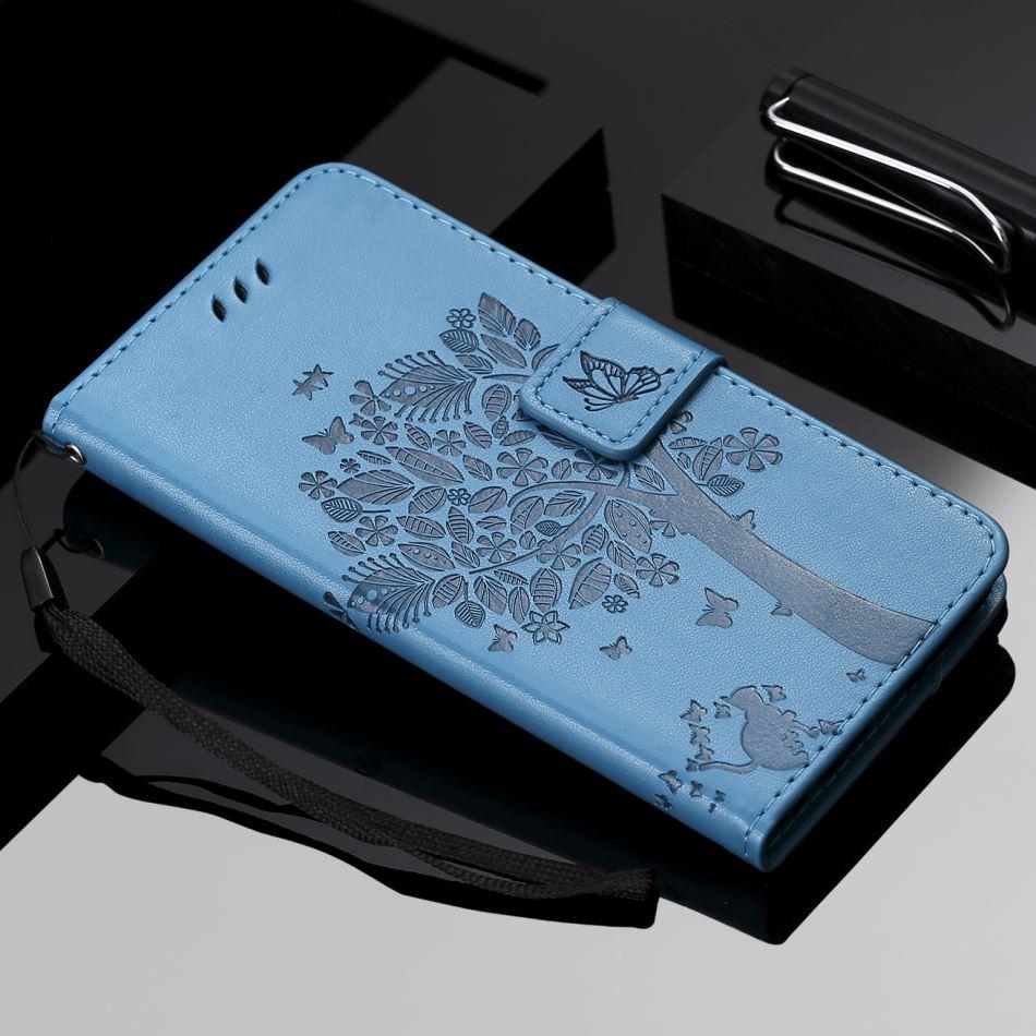 Чехол для iPhone 11 Pro Max Cat Tree, чехол для apple SE 2020 XR X XS 6S 7 8 Plus, милый кожаный чехол 5C 5S Touch 5 6, чехлы E06F