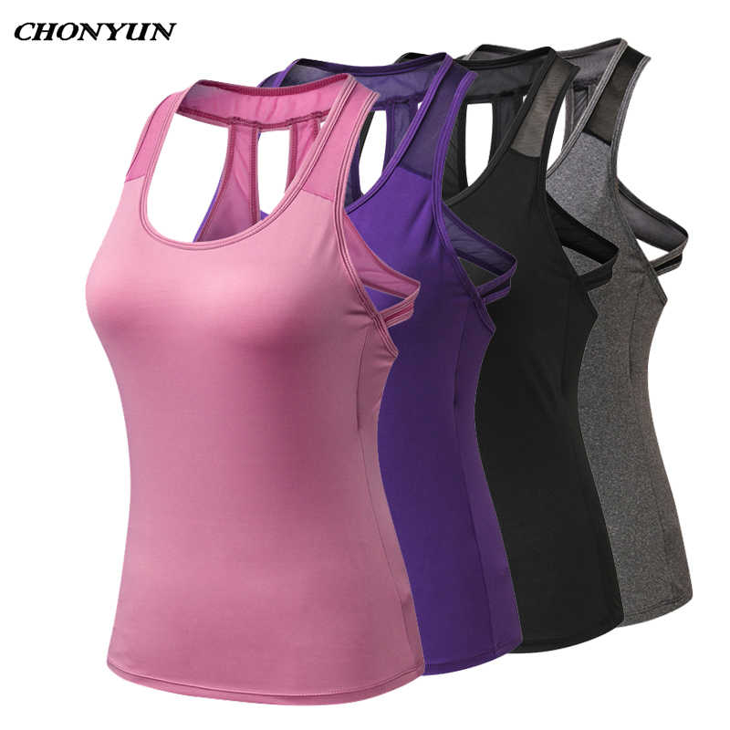 2019 Women's Running Vest Sexy Backless Tanks Top Summer Sports Shirts Autumn Sleeveless Gym Yoga Tights Quick Dry Jogging Vest