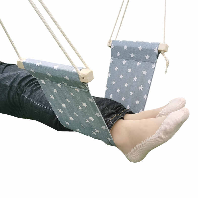 Hammock Chair Care Tool Airplane Travel Footrest Under Desk Foot