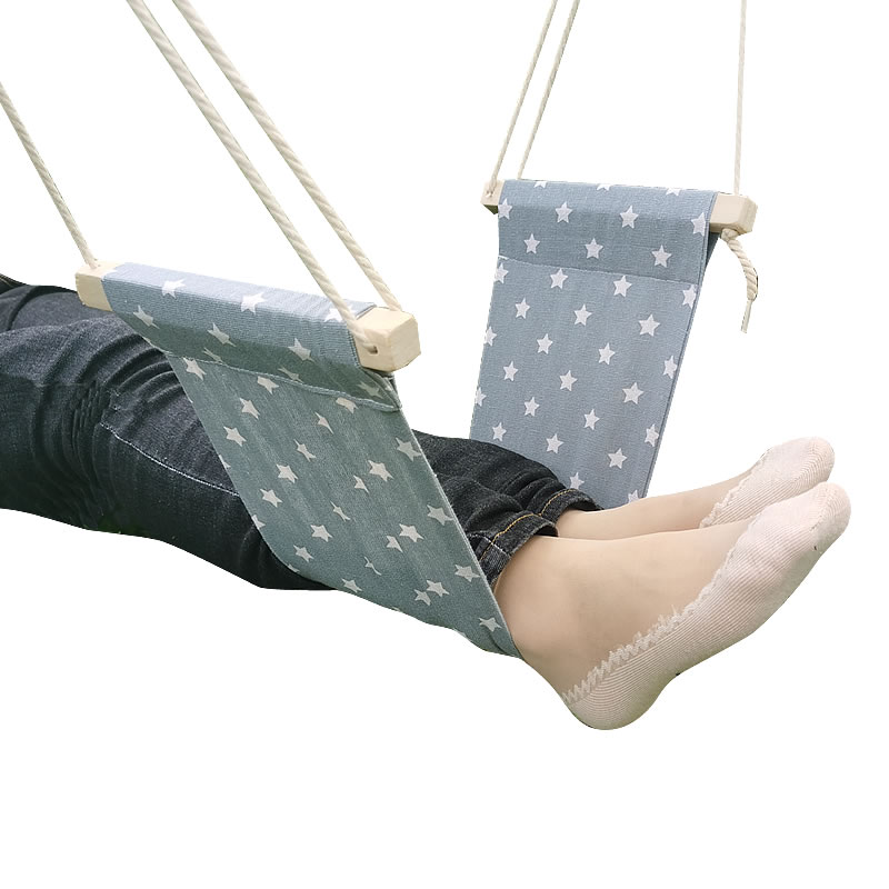 Hammock Chair-Care-Tool Airplane Travel-Footrest Under-Desk-Foot Office Outdoor Portable image