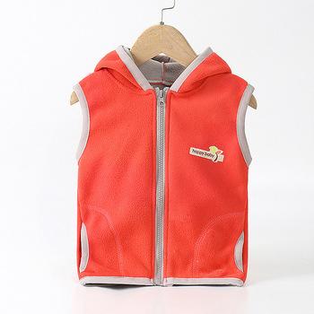 Kamizelki dziecięce bluzy z kapturem ciepłe kurtki odzież wierzchnia dziewczęca dla niemowląt płaszcze dziecięce kamizelki chłopięce z kapturem kurtki jesienne zimowe zagęścić kamizelki tanie i dobre opinie Unini-yun COTTON CASHMERE Wełniana Mikrofibra thick Czesankowe 16 9 Dziewczyny Stałe REGULAR moda Dobrze pasuje do rozmiaru wybierz swój normalny rozmiar