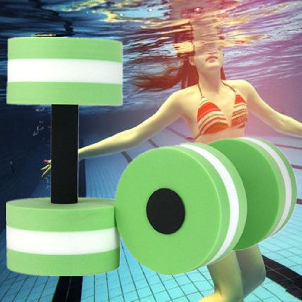 2PC Gummi Schwimm Hantel Wasser Schaum Hantel Schwimmen Pool Wasser Gewicht Aerobic Automatische Schwimmer Aquatische Barbell Für Wasser Yoga