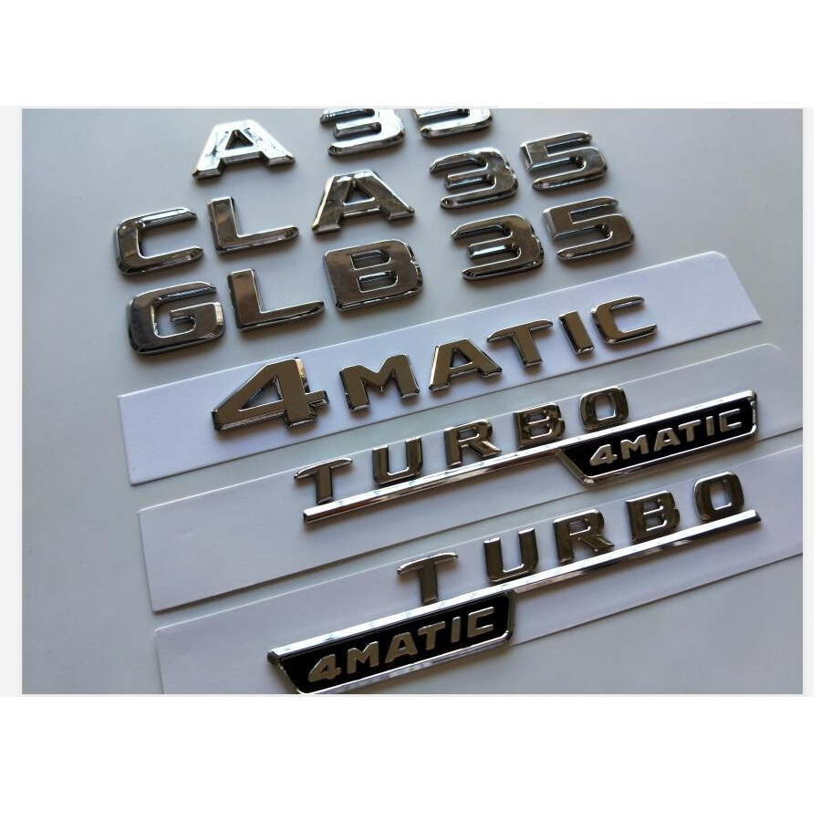 Silver Chrome CLA 250 Flat Lettering Numbers Letters Rear Boot Lid Trunk Badge Emblem Compatible For Benz CLA Edition Class AMG C118 C117