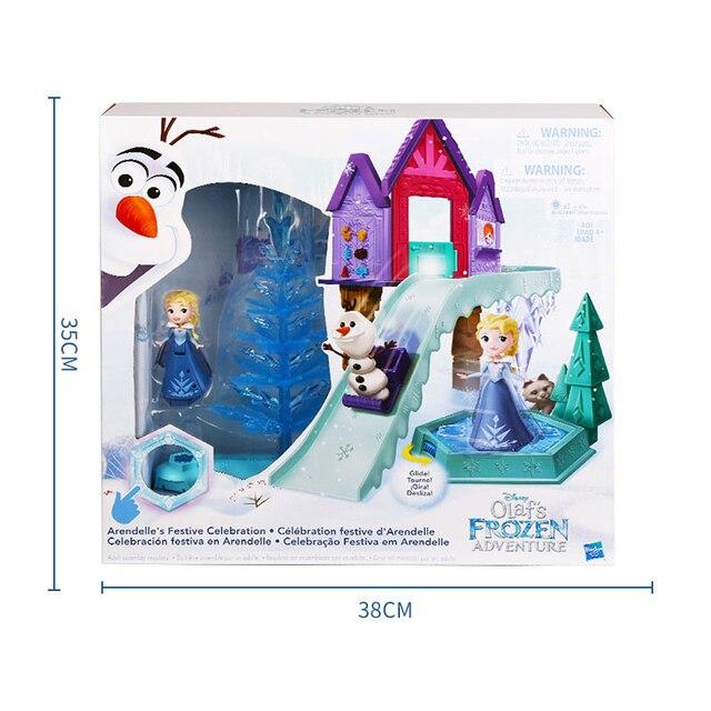 Hasbro Frozen Elsa Holiday Surprise Series Snow Scene Dream Castle Birthday Gift Toys for Girls C1919 2