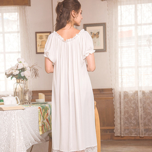 Image 5 - روسهارت نساء موضة أنثى أبيض مثير ملابس خاصة فستان سهرة مقوس دانتيل Homewear ملابس نوم ثوب نوم ثوب فاخر ملابس منزلية