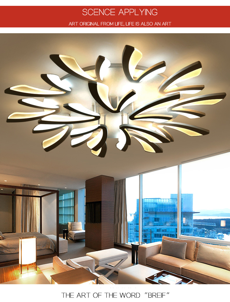 Hc95f6a4195494cb0b64117b5d6675cadz LED Ceiling Lights Dandelion Indoor Ceiling Lamp Modern Simple Post-Modern Living Room Bedroom Dining Room Study Room