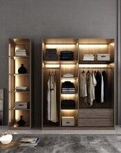 Bespoken Wardrobe with LED Lighting Dress Closet Armoire of MDF Fiberboard