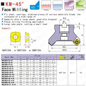 Image 4 - MZG KM12R50 22 4T Four SEKT1204 Carbide Insert Clamped Fast Feeding Alloy End Mill Milling Machining Slab Face Milling Cutter