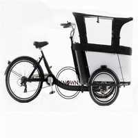 Desconto exportação bicicleta de carga elétrica não-triciclo ao ar livre elétrico retro três rodas bicicleta carro tripulado rua loja móvel caminhão