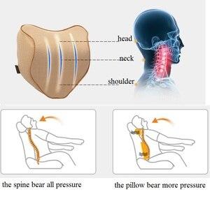 Image 4 - Car Pillow Seat Cushion Back Support Pillow Lumbar Cushion for Car Travel Neck Support Auto Headrest Pillow