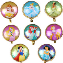 Balloons Baby Toys Belle Birthday-Party-Decorations Princess-Foil Snow-White Elsa Cinderella