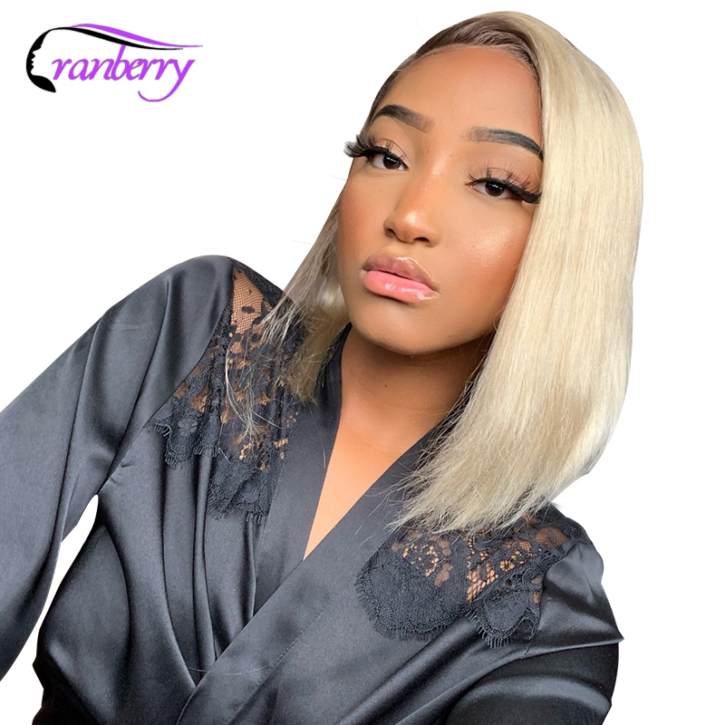 Cranberry Hair Brazilian Hair 13X4 Short Bob Human Hair Wigs 613 Wig Purple Wig Grey Wig Pink Wig Remy Straight Lace Front Wig