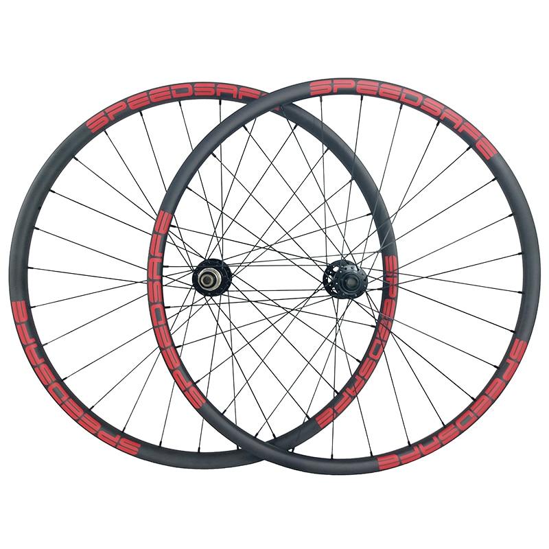 29er MTB XC 30mm asymmetric carbon wheels 22mm deep clincher tubeless wheelset Novatec D791SB D792SB XDR UD 3K 12K 24H 28H 32Hclincher tubelesscarbon wheels29er mtb -