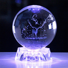 2021 new creative 6cm laser carving solar system sphere 3D micro planet model glass sphere home decoration office ornaments