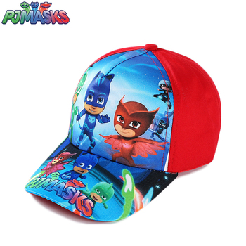 Pj mask adventure cartoon team member Connor Greg Amaya red blue stitching home outdoor flat cap  birthday gifts  for boys girls