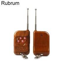 Rubrum Universal RF 433MHz 4 ปุ่ม CH การเรียนรู้รหัสรีโมทคอนโทรลเครื่องส่งสัญญาณประตูโรงรถประตูเปิด LIGHT