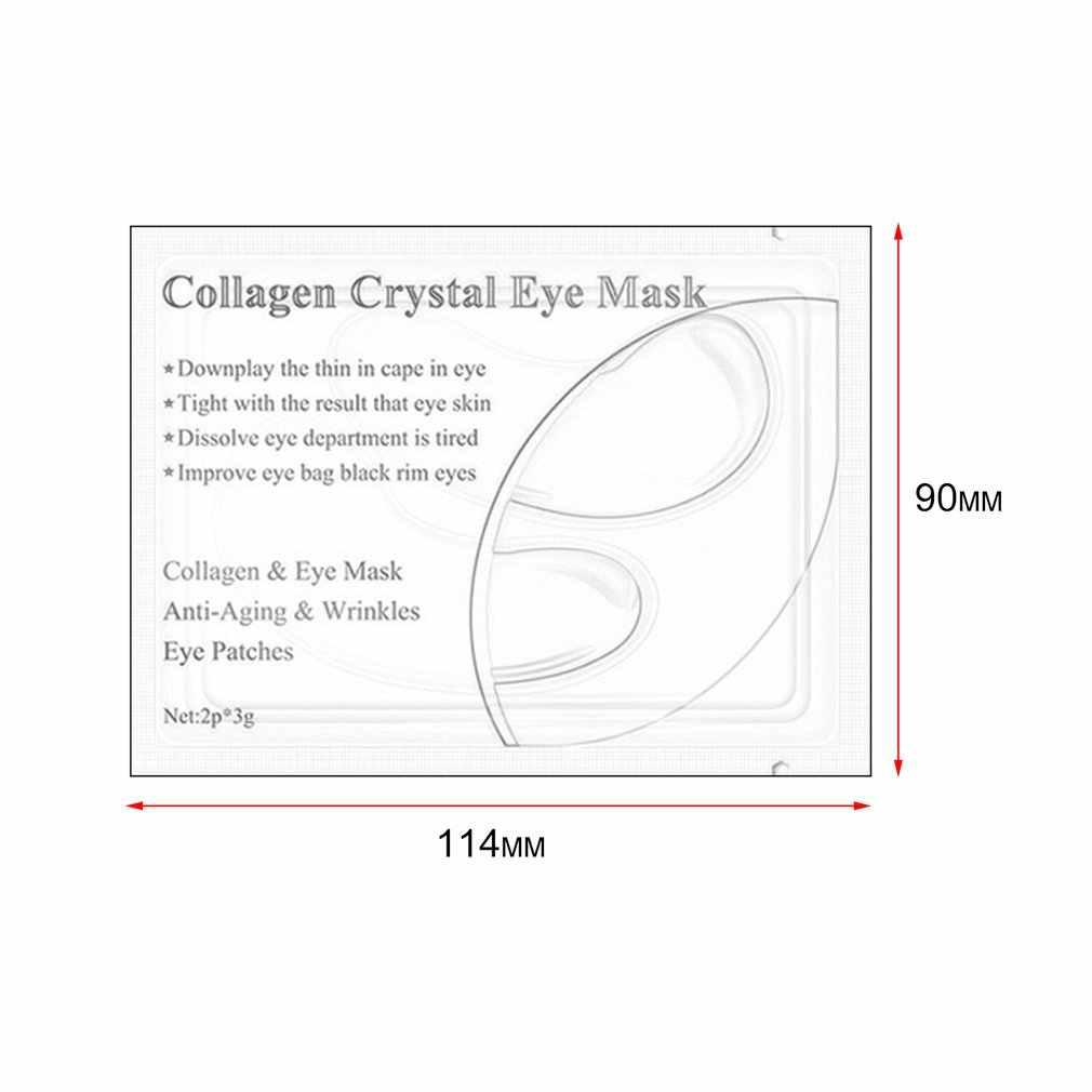 1 par de máscara para ojos con proteína de colágeno, eliminación de parches para los ojos, círculo oscuro, antiarrugas, hidratante, reafirmante Facial, cuidado de los ojos, nuevo