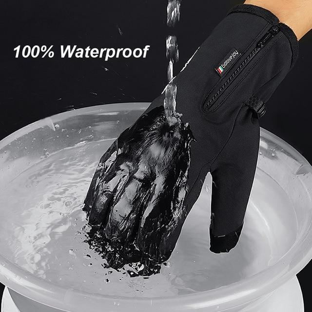 Перчатки ветрозащитные спортивные лыжные перчатки для велосипеда скутера мотоцикла теплые перчатки 3