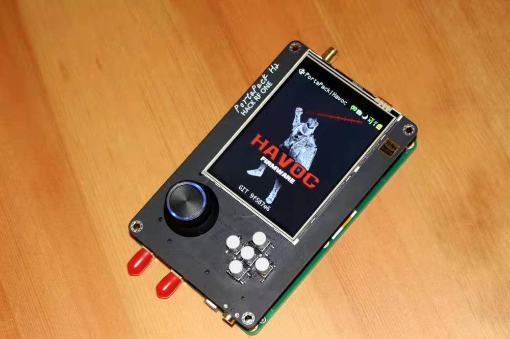 2019 dernière Version PORTAPACK + HACKRF ONE SDR Radio + chaos Firmware + 0.5ppm TCXO + 3.2 pouces tactile LCD + 1500mAh batterie