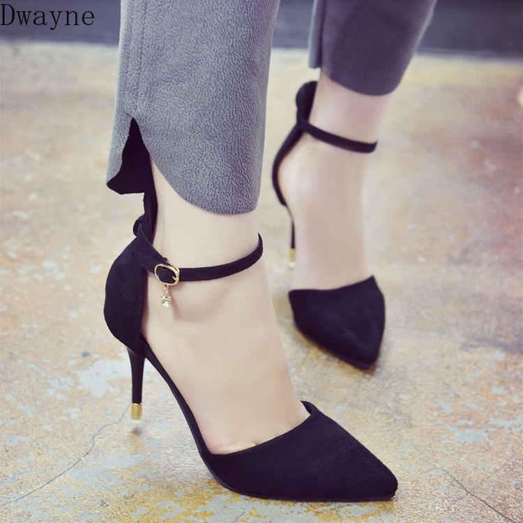New Korean Fashion Versatile Comfortable High Heels Black Sexy Stiletto Single Shoes Trend Comfortable High Heels
