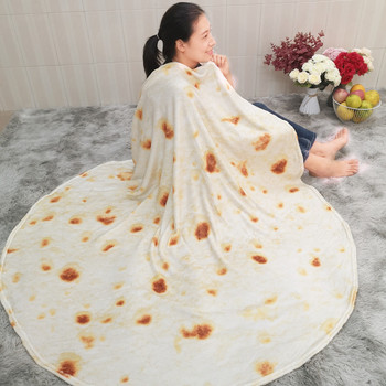 Pizza Tortilla Tortilla Blanket Pita Lavash soft blanket for bed wool sofa plaid plush bedspread Manta Burrito Koce