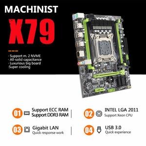 MACHINIST X79 Turbo motherboard LGA2011 ATX USB2.0 SATA3 PCI-E NVME M.2 SSD support DDR3 REG ECC memory and Xeon E5 processor