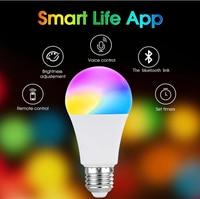 WiFi colore E27 B22 LED lampadina intelligente Neon cambia 10W dimmerabile controllo lampada Alexa Google Home Assistant APP Remote