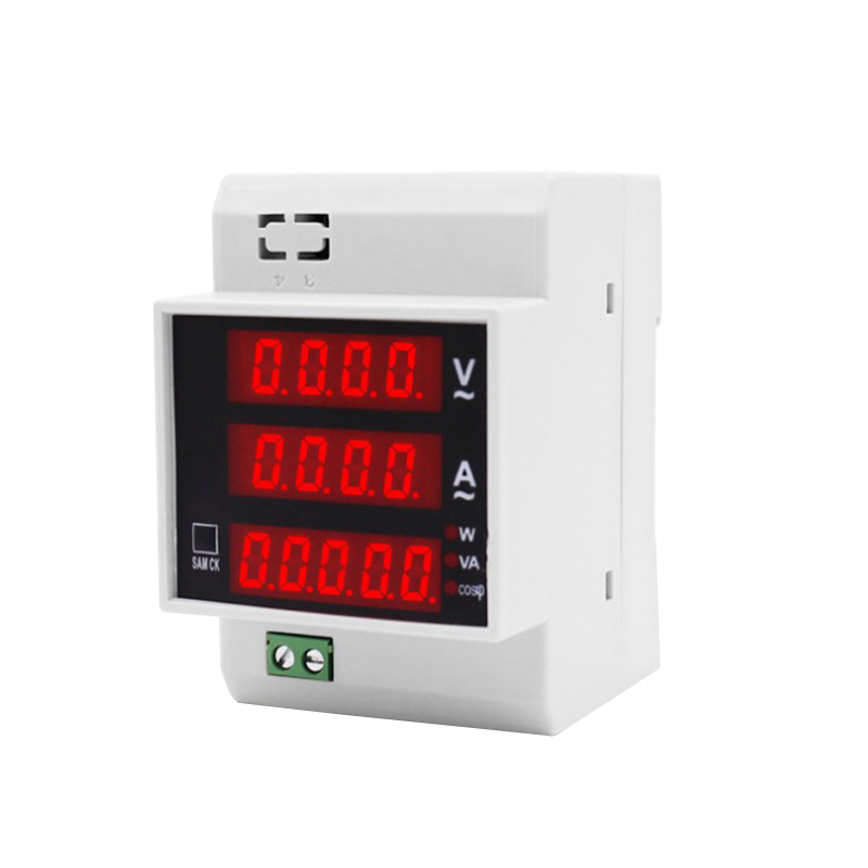 D52-2048 DIN-Rail Multi-Functional Digital Power Meter AC 80-300V 0-100A Active Power Factor Electricity Engery Meter Monitor
