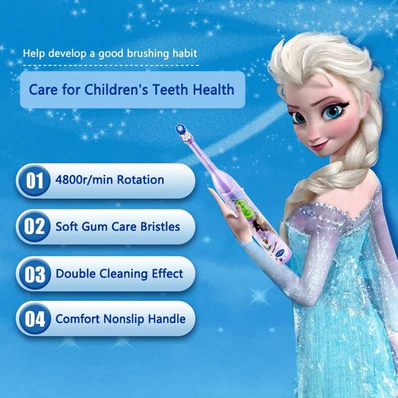 Oral B Electric Toothbrush For Kids 3+ Children Dual Cleaning Gum Care Battery Power Supply Soft Bristle Electric Teeth Brush