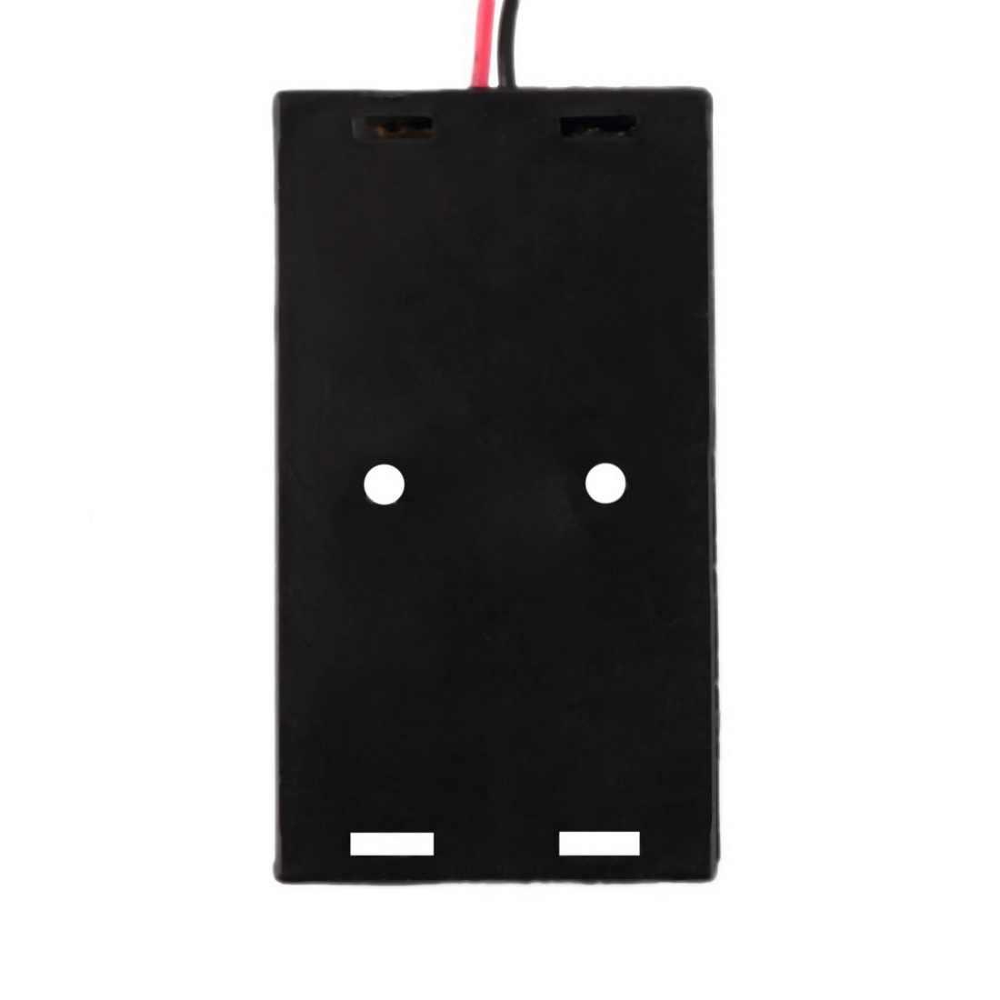 1 bateria PC uchwyt obudowa baterii dla 1/2/3/4 sztuk AA 1.5V suche pojemnik na baterie długi kabel zacisk baterii złącze klamry