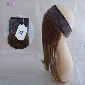 Hot Sale Human Hair Iband Head band With Hair Lace Wig Grip For Jewish Wig Kosher Wigs In Stock