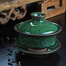 Кофейный чайный сервиз Gaiwan фарфоровый ледяной керамический чайный горшок Gaiwan, чайная чашка, китайские чайные наборы кунг-фу, чайный сервиз Gaiwan 120 мл