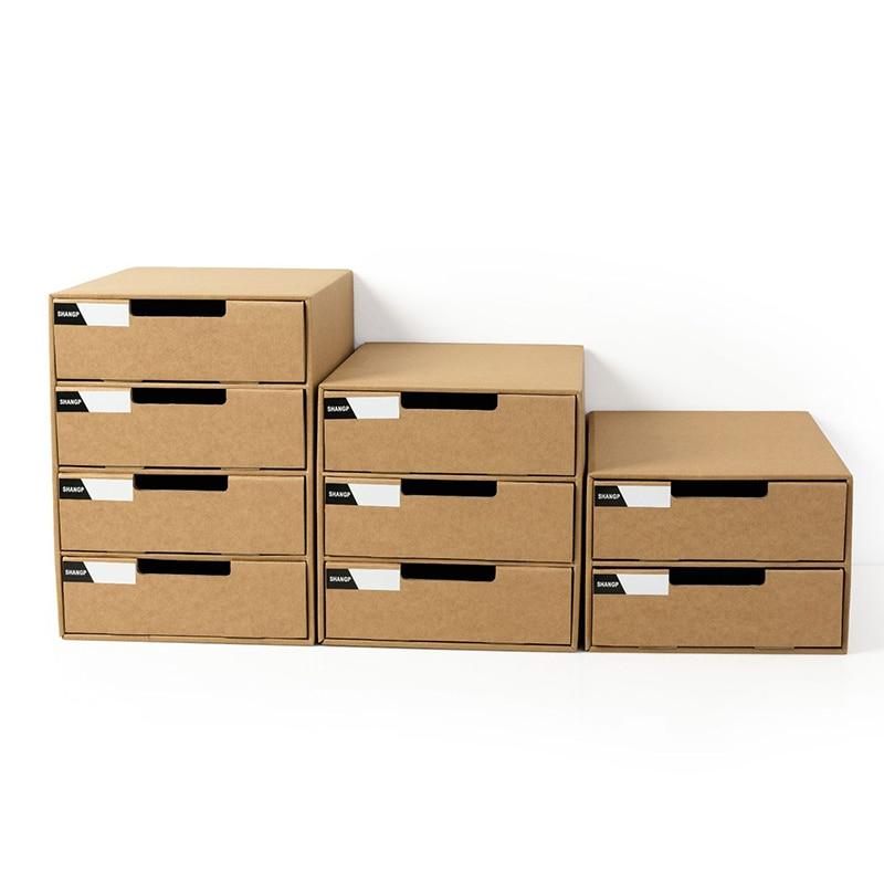 A4 Paper Desktop Storage Box Student File Storage Box Multi-layer Drawer Storage Cabinet  File Organizer  File Holders