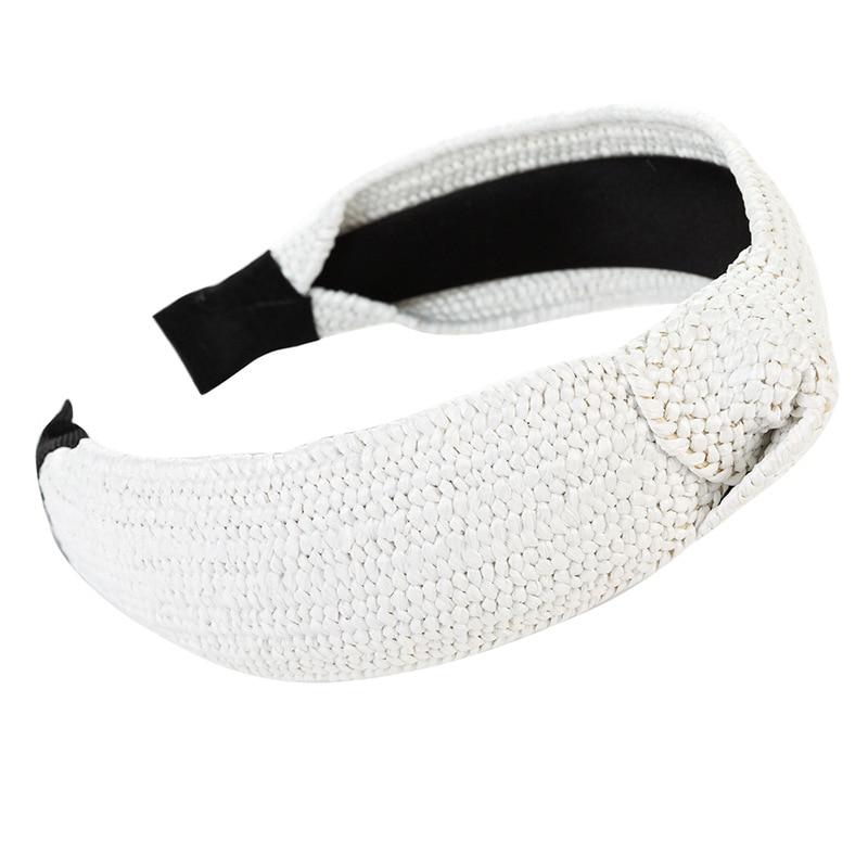 Купить повязка на голову cn в корейском стиле женская однотонная плетеная