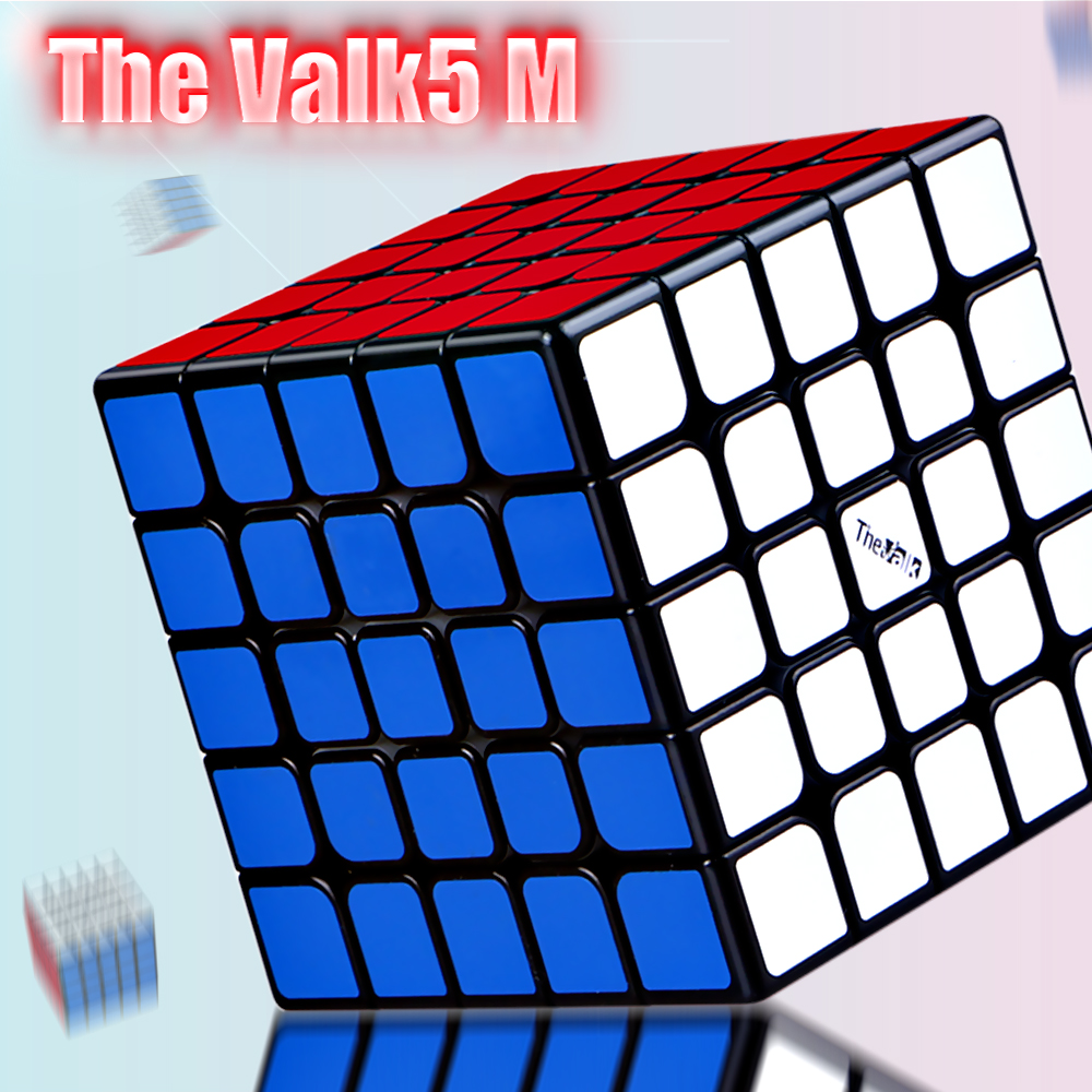 New QIYI The Valk5 M 5x5x5 Magnetic Magic Speed Cube Professional Valk 5 M Magnets Puzzle Cubes Valk5M Cubo Magico 5x5 Gift
