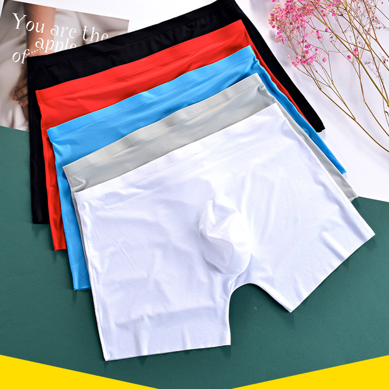 Underwear Boxer Transparent Shorts Silk Mens Traceless Ultra-Thin 17 Ices LL