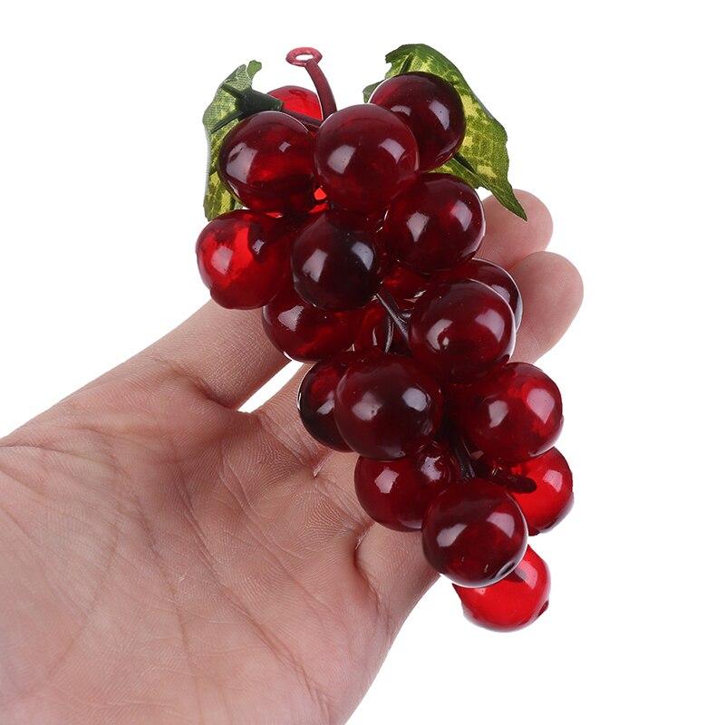 1 шт. настоящий сенсорный искусственный фруктовый Виноград Пластиковый домашний сад украшение для свадебной вечеринки|Искусственные фрукты|   | АлиЭкспресс