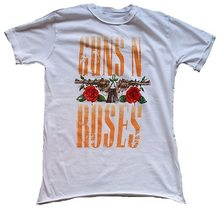 AMPLIFICADO GUNS N 'ROSES Logo Schriftzug Estrela do Rock T-Shirt Camiseta de Algodão Do Desenhador Do Vintage Personalizar(China)