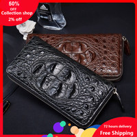 Crocodile Wallet women wallets Male Genuine Leather Long Fund Zipper Hand Package Man Business Affairs Leisure Time New Design