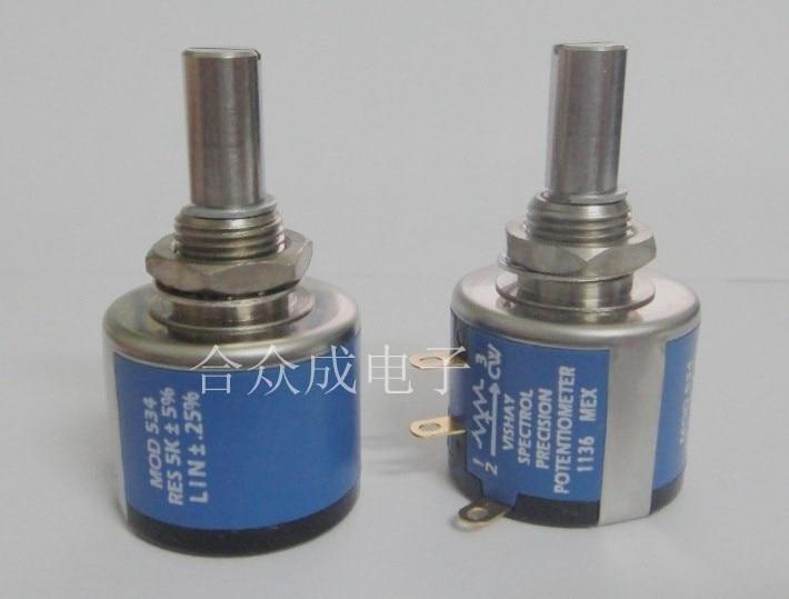 SPECTROL 534-1-1 102 202 502 10 tours potentiomètre multi-tours 2 watts commutateur authentique