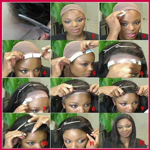 Dubbelzijdige Tape Hair Lijm Haar Lijmen Blauw Haar Houden Voor Kant Pruik Extensions Tools Lace Front Tape 36 Pcs