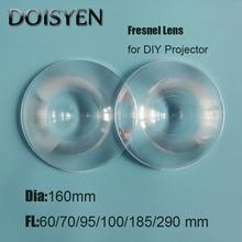 Led Car headlight lens Fresnel Lens Diameter 160 mm Focal length 60/70/95/100/185/290 mm lens DIY Plastic Fresnel Lens уплотняющее кольцо 185 206 mm 4 отверстия